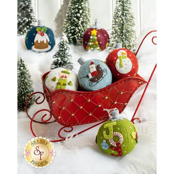 Everything Nice Stuffed Christmas Ornament Kit - In Wool Felt - RESERVE