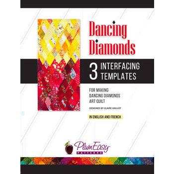 Dancing Diamonds Interfacing Templates - 3pk