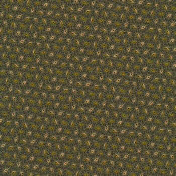 Buttermilk Autumn 2279-66 Floating Leaves Green by Henry Glass Fabrics REM
