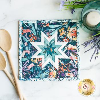 Folded Star Squared Hot Pad Kit - Sunshine Soul - Teal