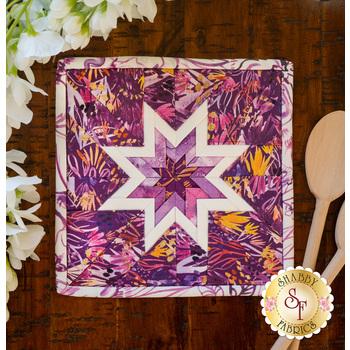 Folded Star Squared Hot Pad Kit - Sunshine Soul - Purple