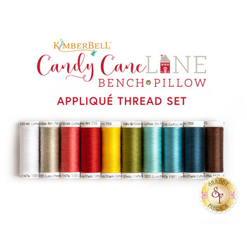 Candy Cane Lane Bench Pillow - 10pc Applique Thread Set - Sewing Version - RESERVE