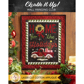 Chalk It Up Wall Hanging Club - Laser Cut Cotton