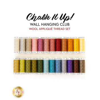 Chalk It Up Wall Hanging Club - Wool - 24pc Applique Thread Set - RESERVE