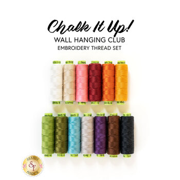 Chalk It Up Wall Hanging Club - 13pc Embroidery Thread Set - RESERVE