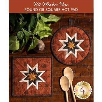 Folded Star Hot Pad Kit - Blessings of Home - Round OR Square - Orange