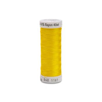 Sulky 40 wt Rayon Thread #1187 Mimosa Yellow - 250 yds