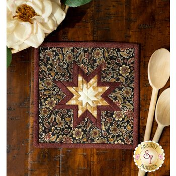 Folded Star Squared Hot Pad Kit - Quilter Barn Prints - Floral