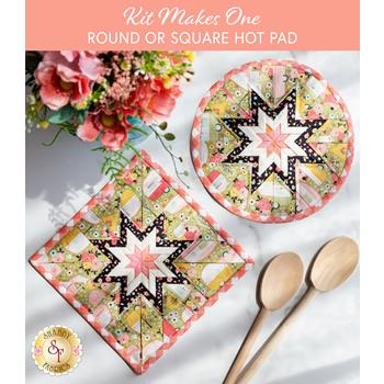 Folded Star Hot Pad Kit - Joy in the Journey - Round OR Square - Green