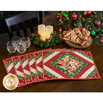 Quilt As You Go - Casablanca Placemats Kit - Postcard Holiday - Makes 6
