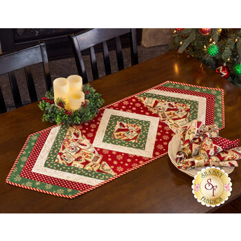 Quilt As You Go - Morning Blend Table Runner Kit - Postcard Holiday