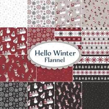 Hello Winter Flannel  Yardage by Riley Blake Designs