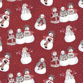 Hello Winter Flannel F11940-RED by Riley Blake Designs