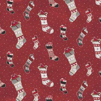 Hello Winter Flannel F11941-RED by Riley Blake Designs