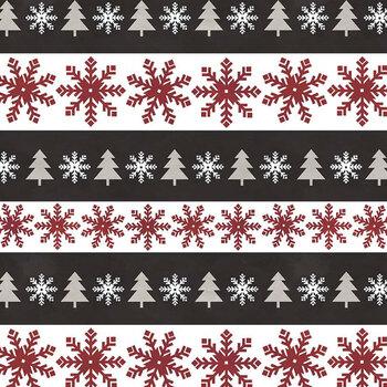 Hello Winter Flannel F11942-BLACK by Riley Blake Designs