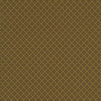 Buttermilk Winter 2287-66 Diamond Weave Green by Henry Glass Fabrics REM