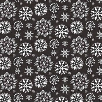 Hello Winter Flannel F11943-BLACK by Riley Blake Designs