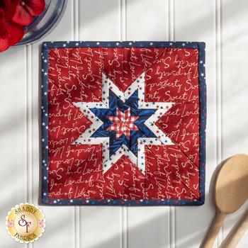 Folded Star Squared Hot Pad Kit - Land That I Love