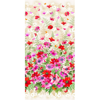Floral Fantasy 10228-REDX-D by Michael Miller Fabrics