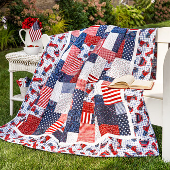 Easy as ABC and 123 Quilt Kit - Land That I Love - RESERVE