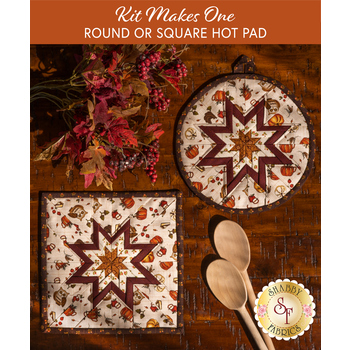 Folded Star Hot Pad Kit - Hello Fall - Round OR Square