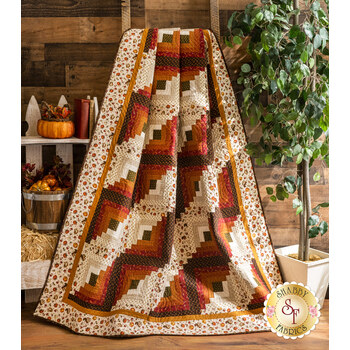 Log Cabin Throw Size Quilt Kit - Hello Fall