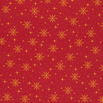 Holy Night 27253-R Red by Quilting Treasures Fabrics