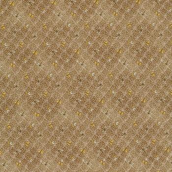 Best of Days 2451-37 Cocoa Flower Lattice by Janet Rae Nesbitt for Henry Glass Fabrics REM