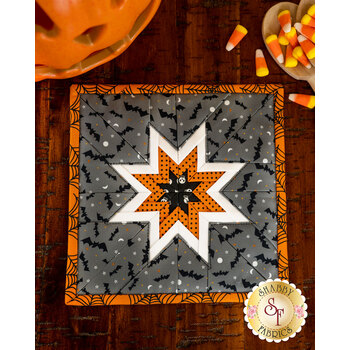 Folded Star Squared Hot Pad Kit - Holiday Essentials - Halloween - Gray