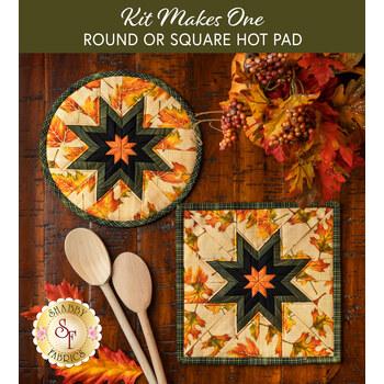 Folded Star Hot Pad Kit - Autumn Elegance - Round OR Square - Cream
