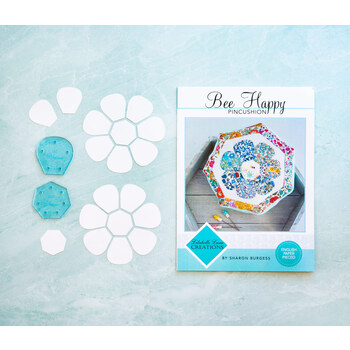 Bee Happy Pincushion Pattern - Includes Papers + 2 Acrylic Templates