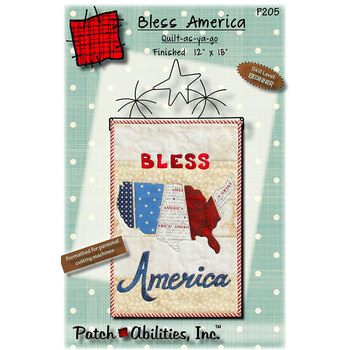 Bless America Wall Hanging Pattern