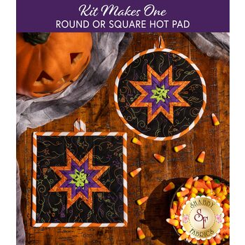 Folded Star Hot Pad Kit - Hometown Halloween - Round OR Square