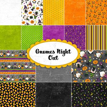 Gnomes Night Out  Yardage by Northcott Fabrics