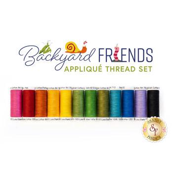 Backyard Friends Quilt Kit - Appliqué Thread Set - RESERVE
