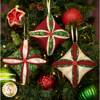 Cathedral Window Ornaments Kit - Old Time Christmas - Makes 3