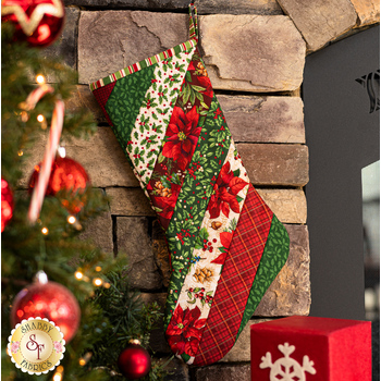 Quilt As You Go Holiday Stocking Kit - Old Time Christmas