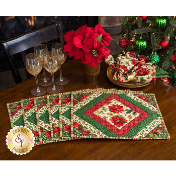 Quilt As You Go Casablanca Placemats Kit - Old Time Christmas - Makes 6
