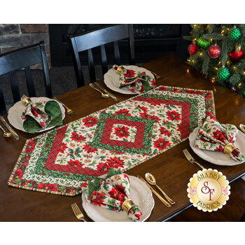 Quilt As You Go Morning Blend Table Runner - Old Time Christmas