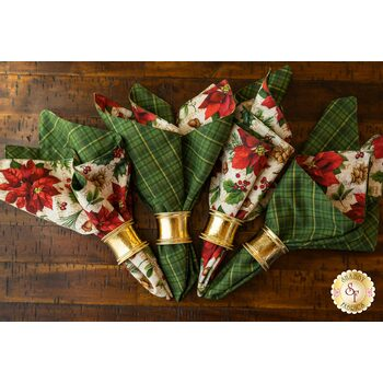 Cloth Napkins Kit - Old Time Christmas - Makes 4