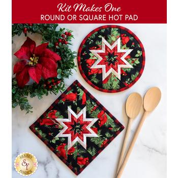 Folded Star Hot Pad Kit - Season of Heart - Round OR Square - Black