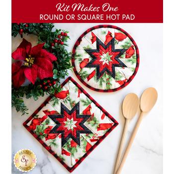 Folded Star Hot Pad Kit - Season of Heart - Round OR Square - Cream