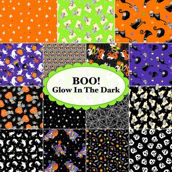 Boo! Glow In The Dark  Yardage by Henry Glass Fabrics