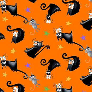 Boo! Glow In The Dark 245G-39 Orange by Henry Glass Fabrics