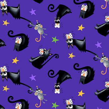 Boo! Glow In The Dark 245G-59 Purple by Henry Glass Fabrics