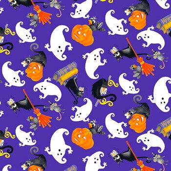 Boo! Glow In The Dark 251G-59 Multi by Henry Glass Fabrics