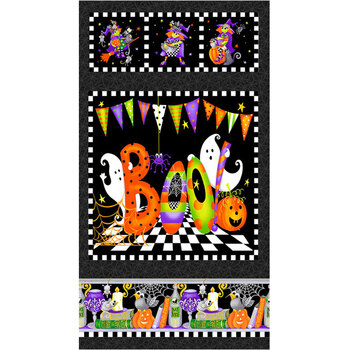 Boo! Glow In The Dark 254PG-93 Multi by Henry Glass Fabrics