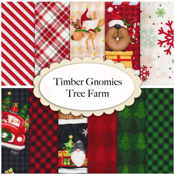 Timber Gnomies Tree Farm  Yardage by Henry Glass Fabrics