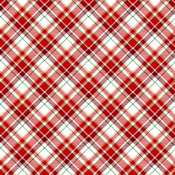 Timber Gnomies Tree Farm 311-8 Red/White by Henry Glass Fabrics