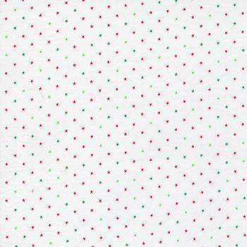 Candy Cane Lane 24106-55 Candy Cane Twinkle Dot Star by Moda Fabrics